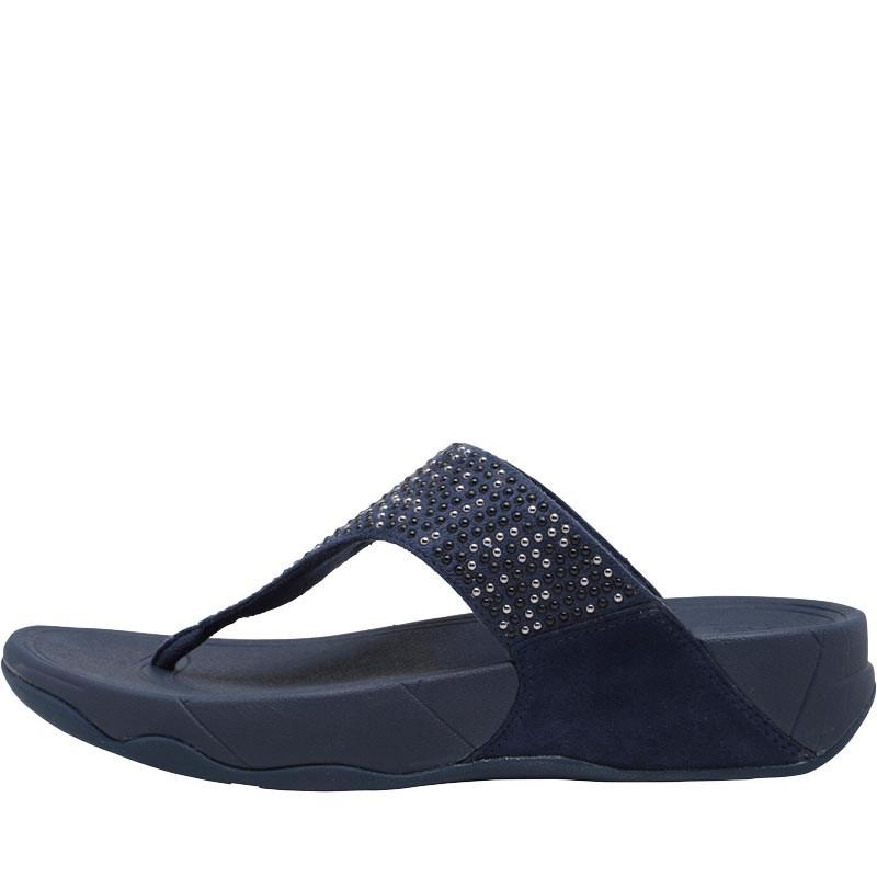 56588dfef38 Fitflop - Blue Lulu Popstud Toe Post Sandals Midnight Navy - Lyst. View  fullscreen