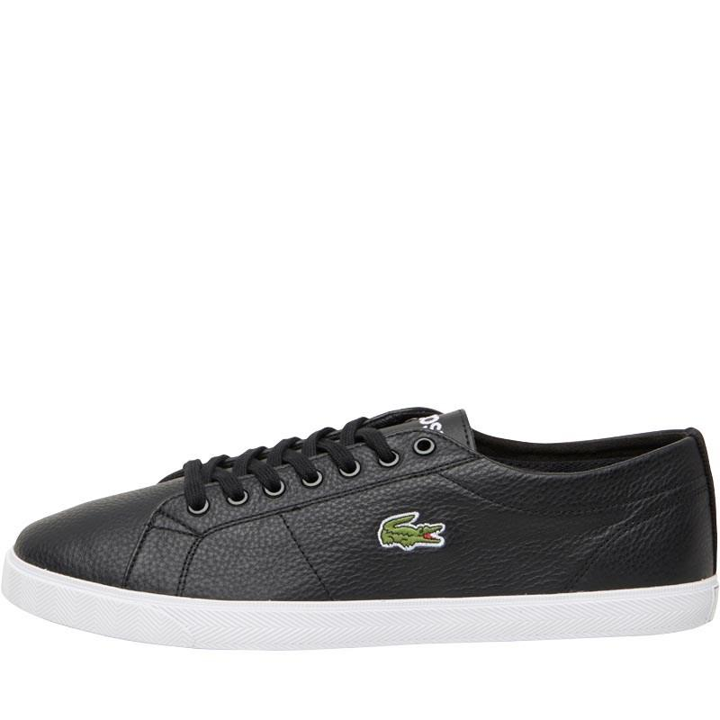 22d455598d144 Lacoste Riberac Leather Trainers Black black in Black for Men - Lyst