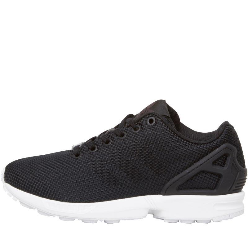 wholesale dealer 7ad59 b5d08 adidas Originals Zx Flux Weave Trainers Core Black carbon white in ...