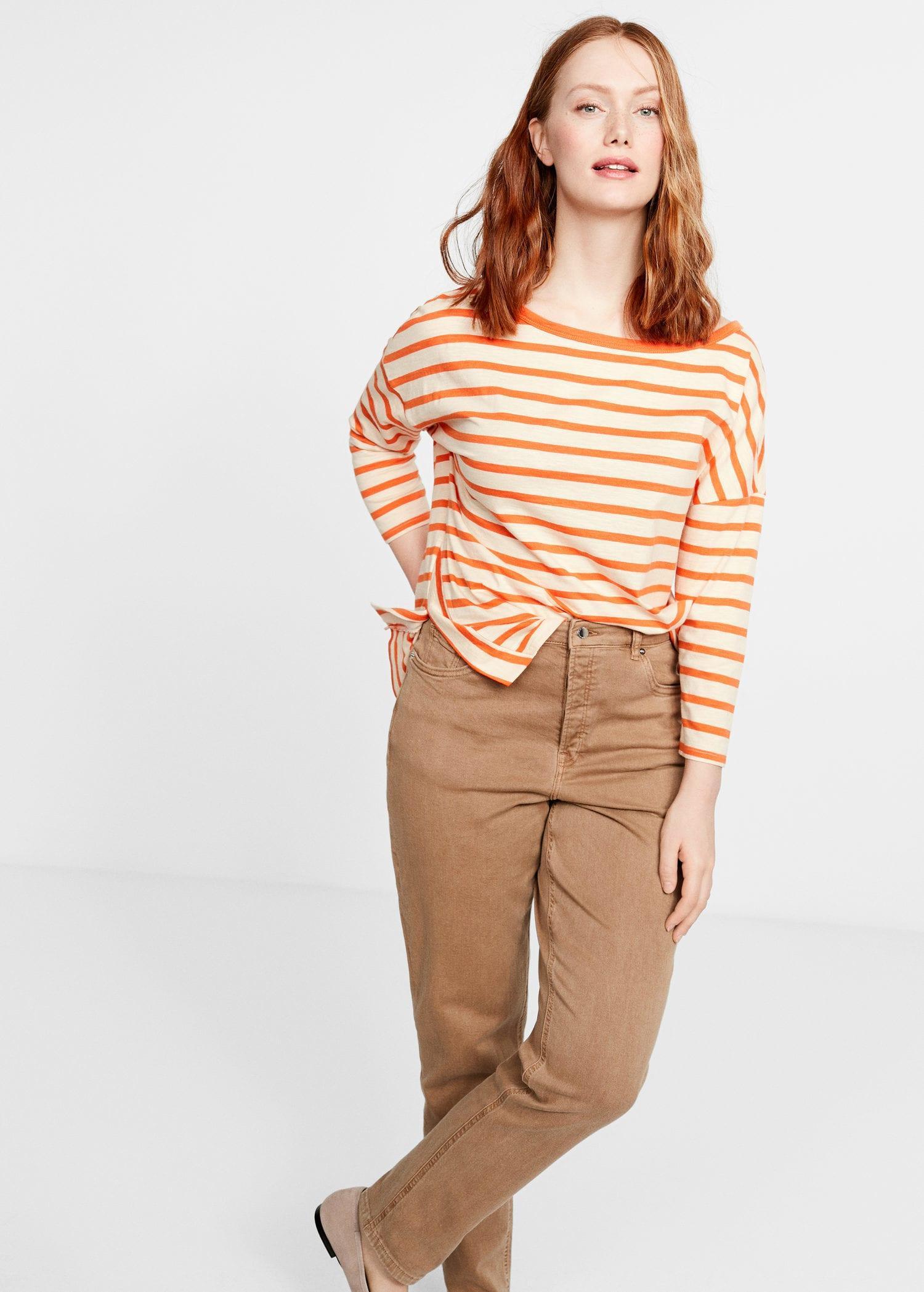 18877195ca295b Violeta by Mango Slim-fit Stella Jeans in Brown - Lyst