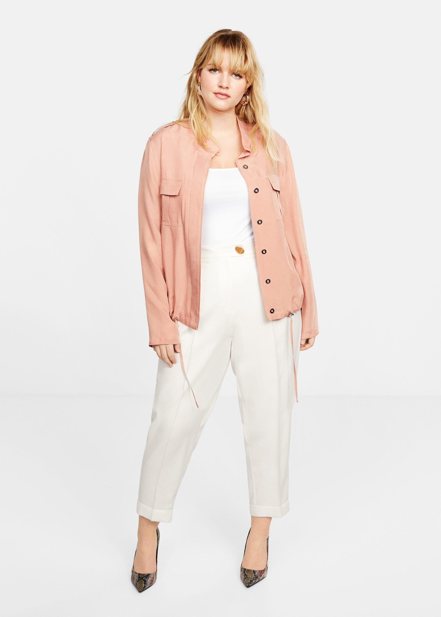 2e416590c032 Lyst - Violeta by Mango Cupro Jacket in Pink