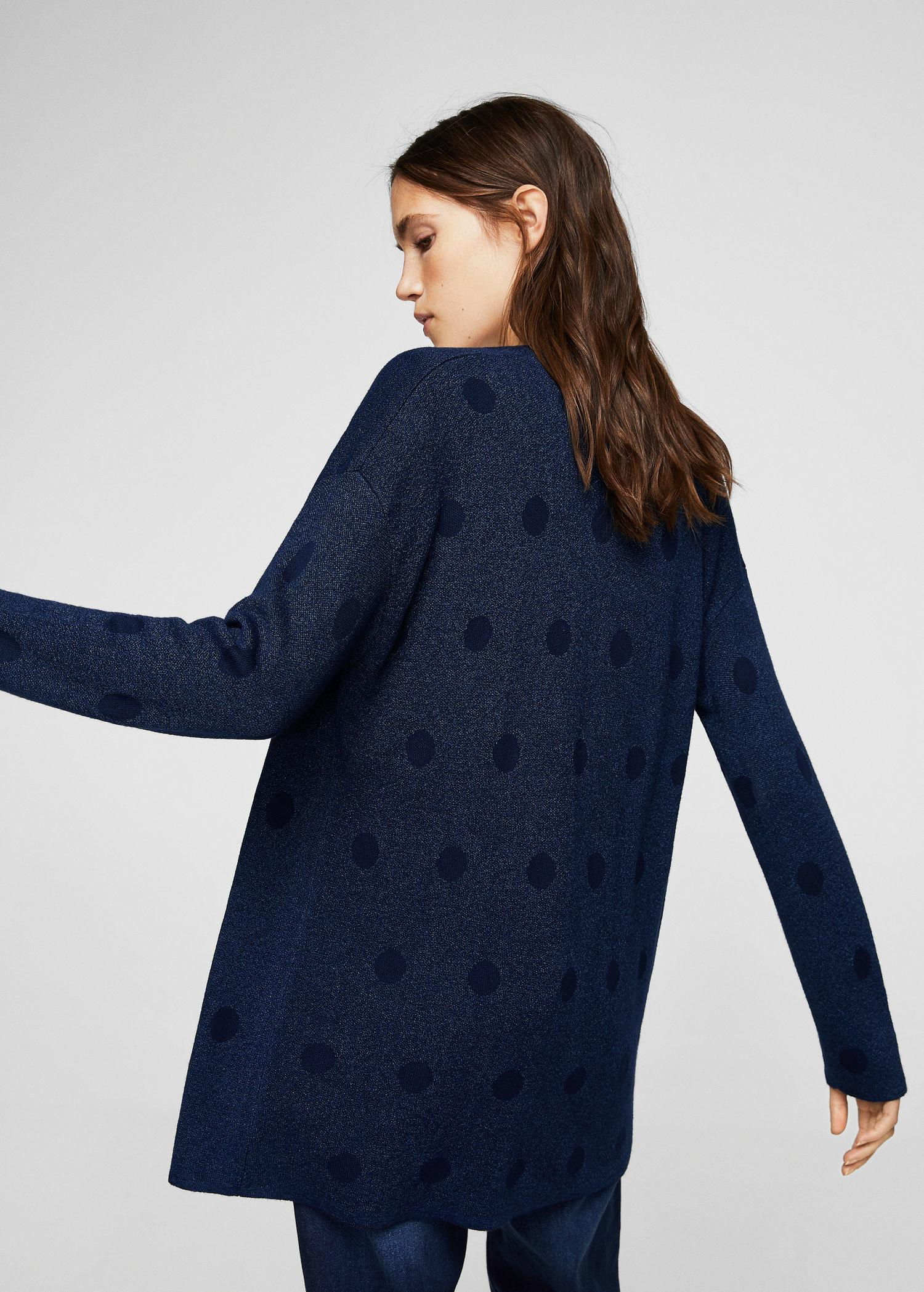 Get The Latest Fashion Clearance Choice MANGO Metallic polka dot sweater CiwtSSNE0R