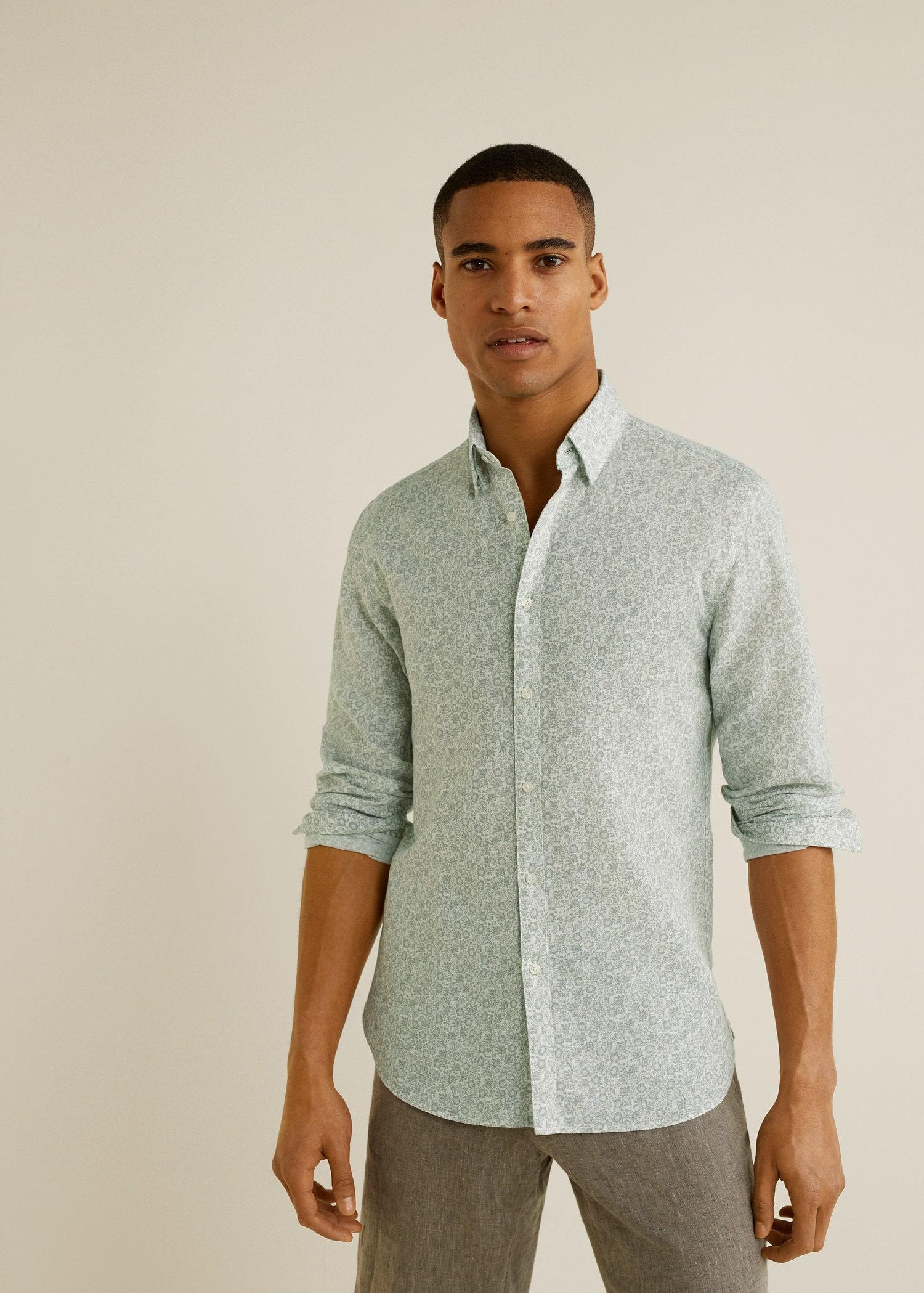 76238d129d22 Mango Slim-fit Cotton Linen-blend Shirt for Men - Lyst
