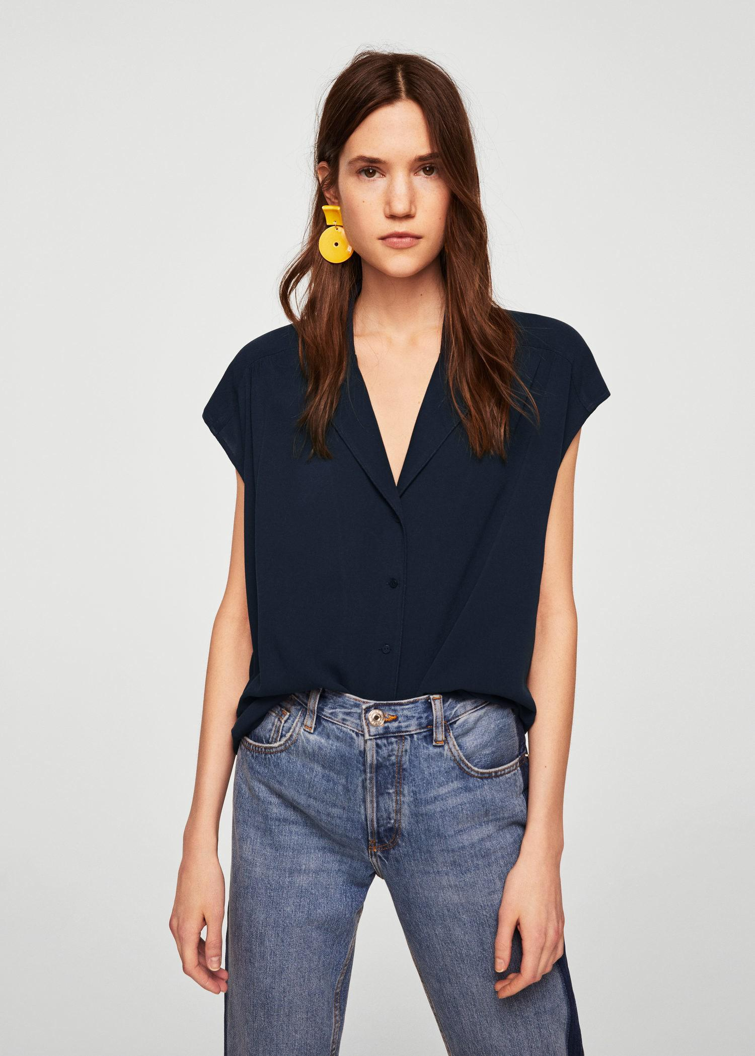 MANGO Camp-collar blouse Discount Many Kinds Of Discount Visit New Clearance Wholesale Price Cheap Sale Cheap Qiz5Dv4S