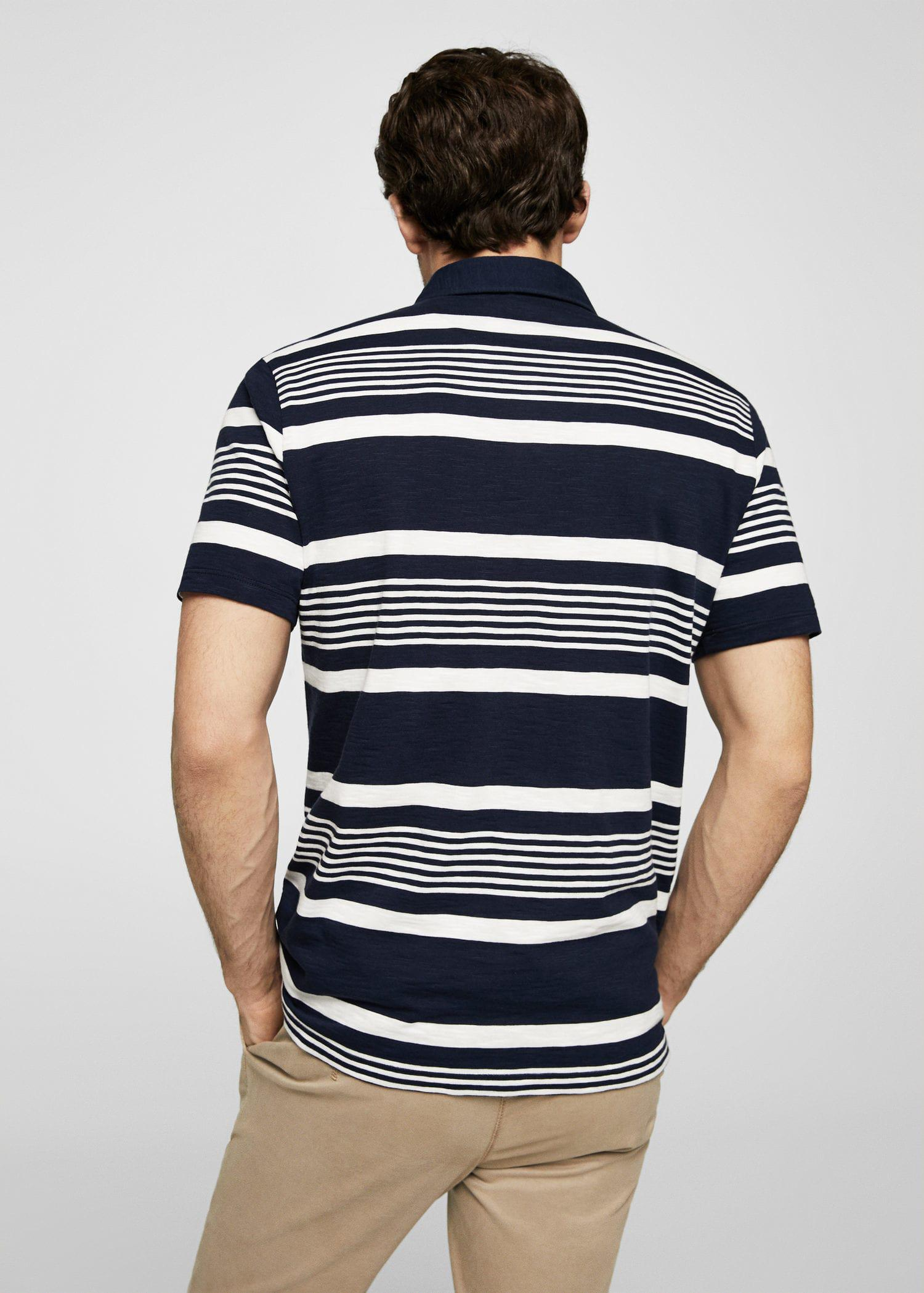 Espionage Polo Top with Contrast Striped Edge