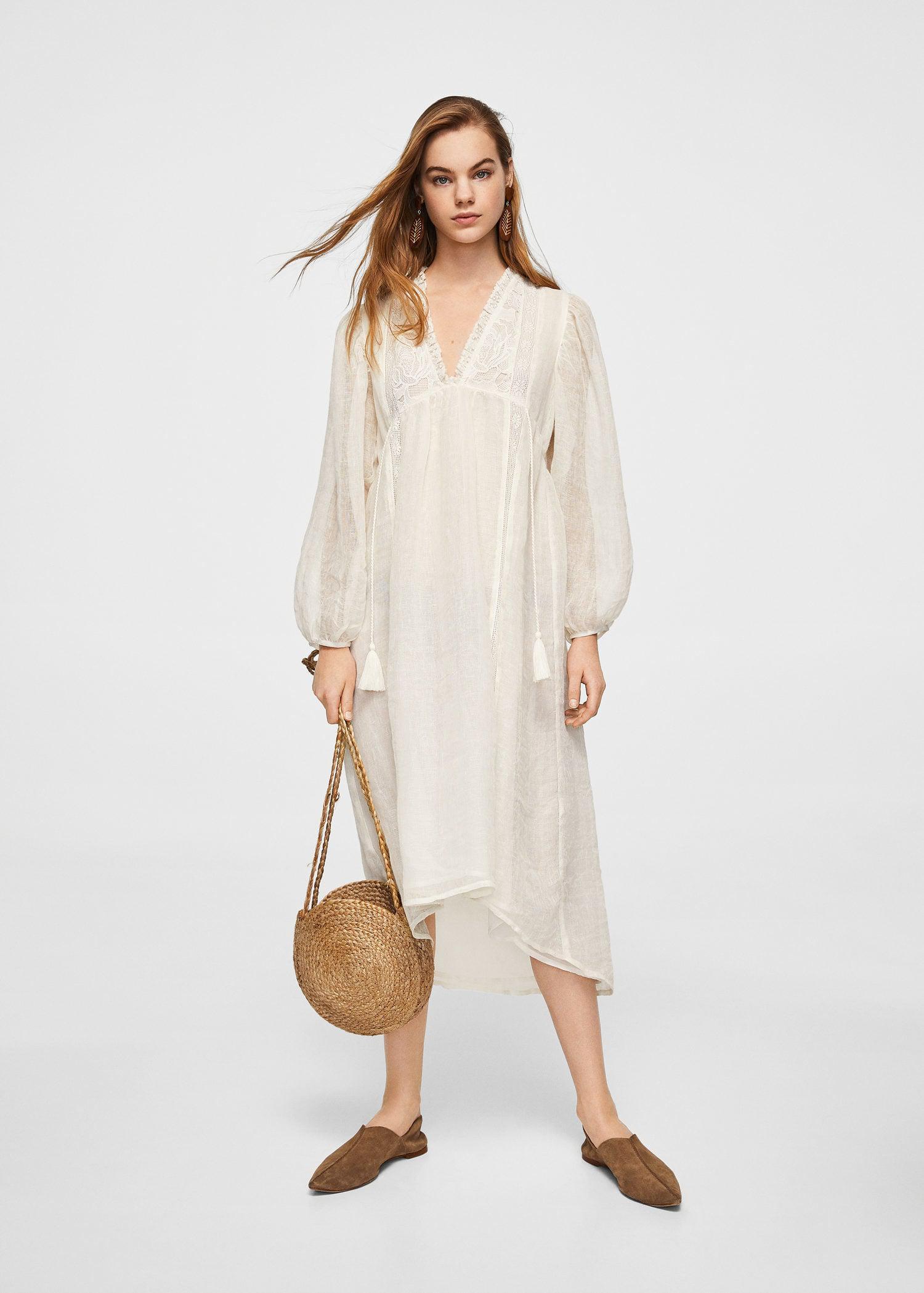 a2126461de Gallery. Women s White Linen Dresses Women s Satin Maxi ...