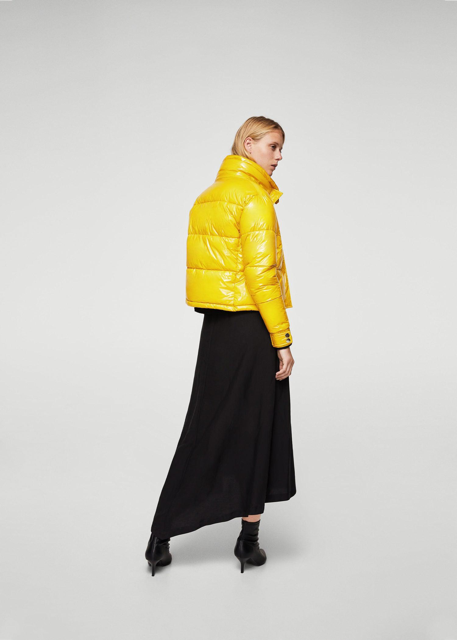 da17a2ee69 Mango Water-repellent Quilted Coat in Yellow - Lyst