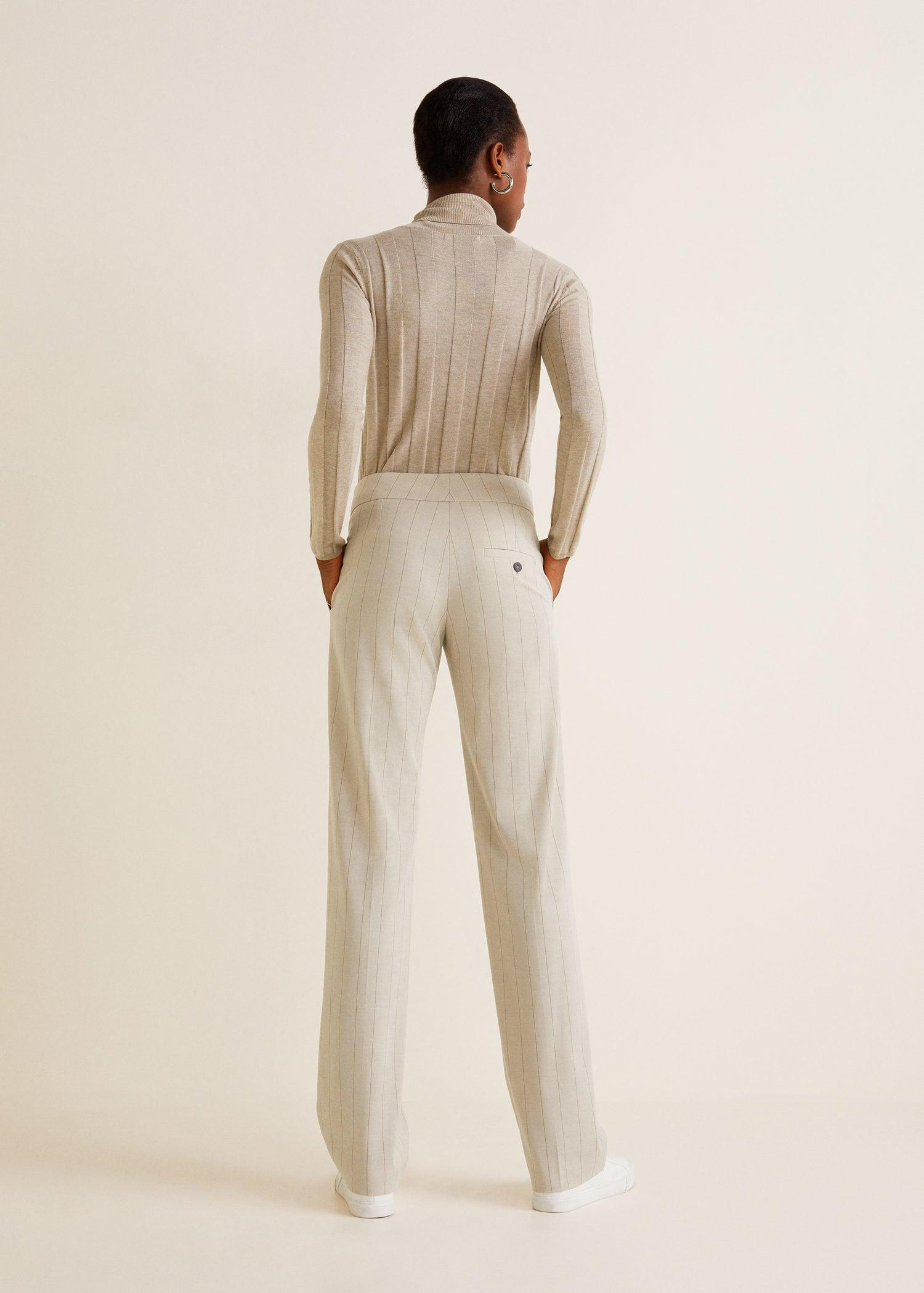 great look harmonious colors cheap for sale Striped Suit Trousers