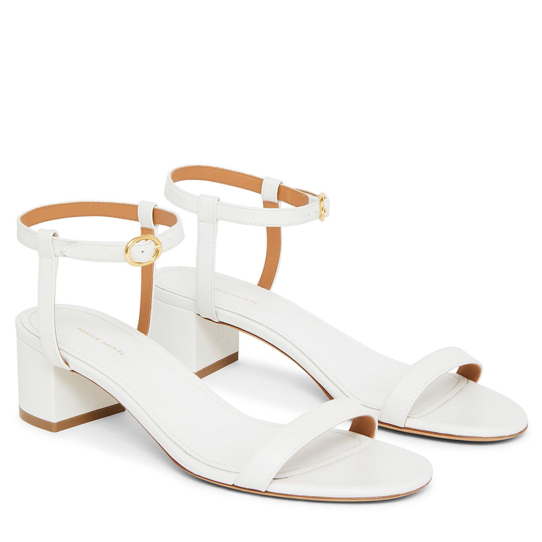 576db1f68c3f Mansur Gavriel - Lamb Ankle Strap Sandal - White - Lyst. View fullscreen