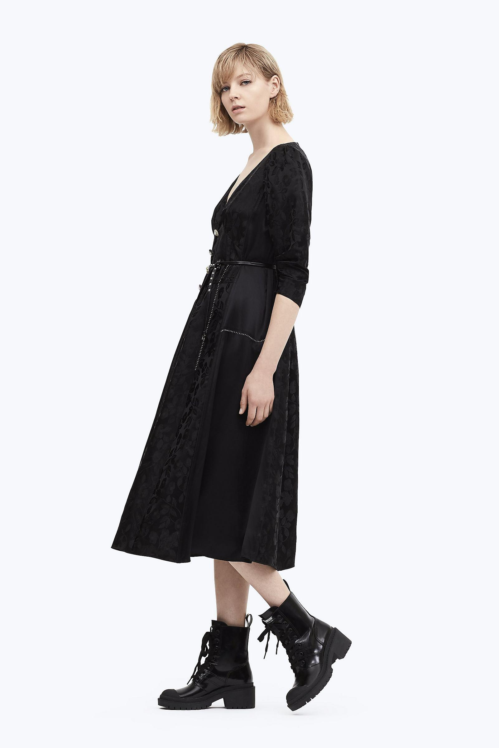 04e0092ce1 Lyst - Marc Jacobs Jewel Button Panel Dress in Black