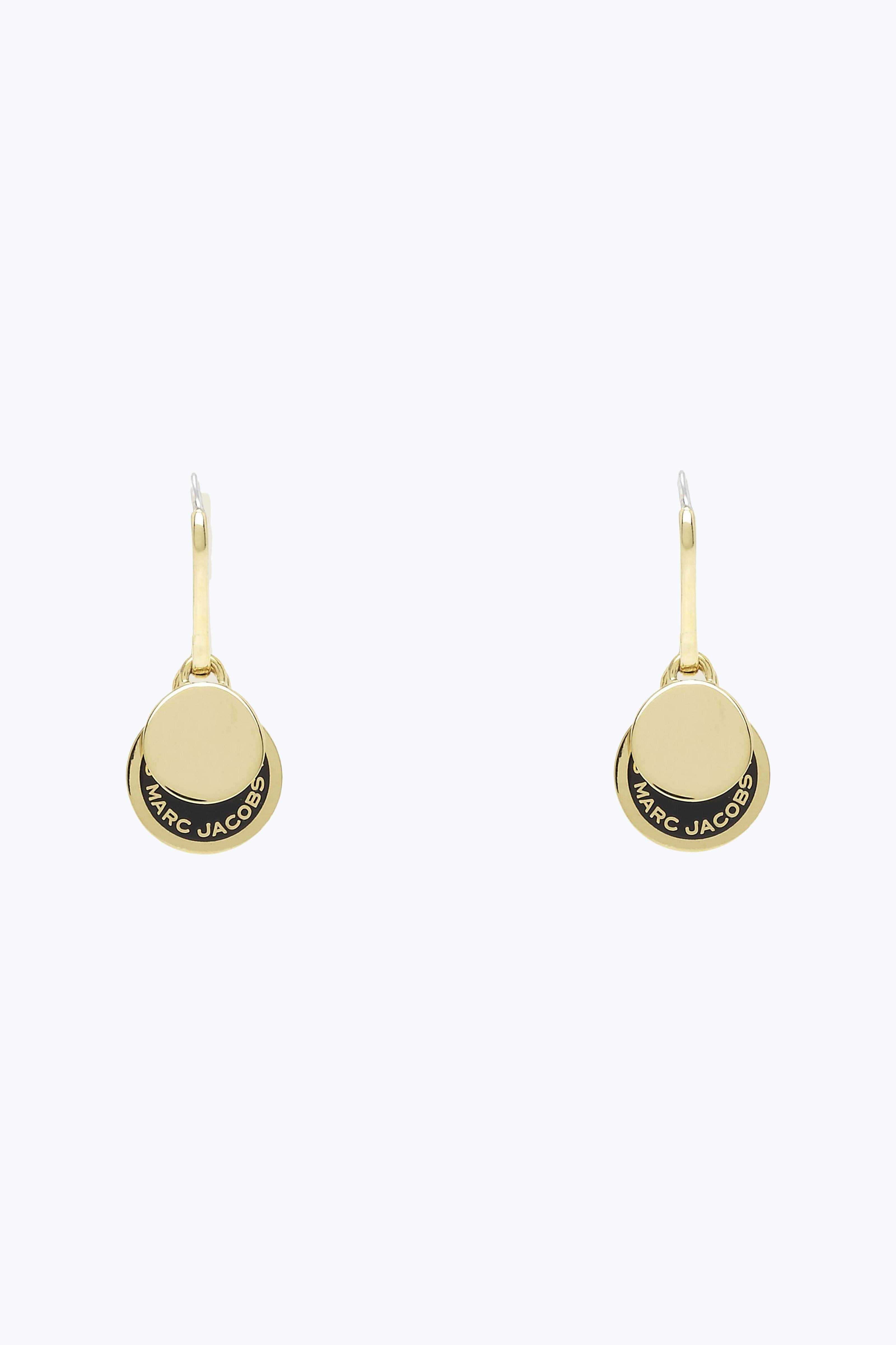 Marc Jacobs Women S Black Enamel Logo Disc Earrings