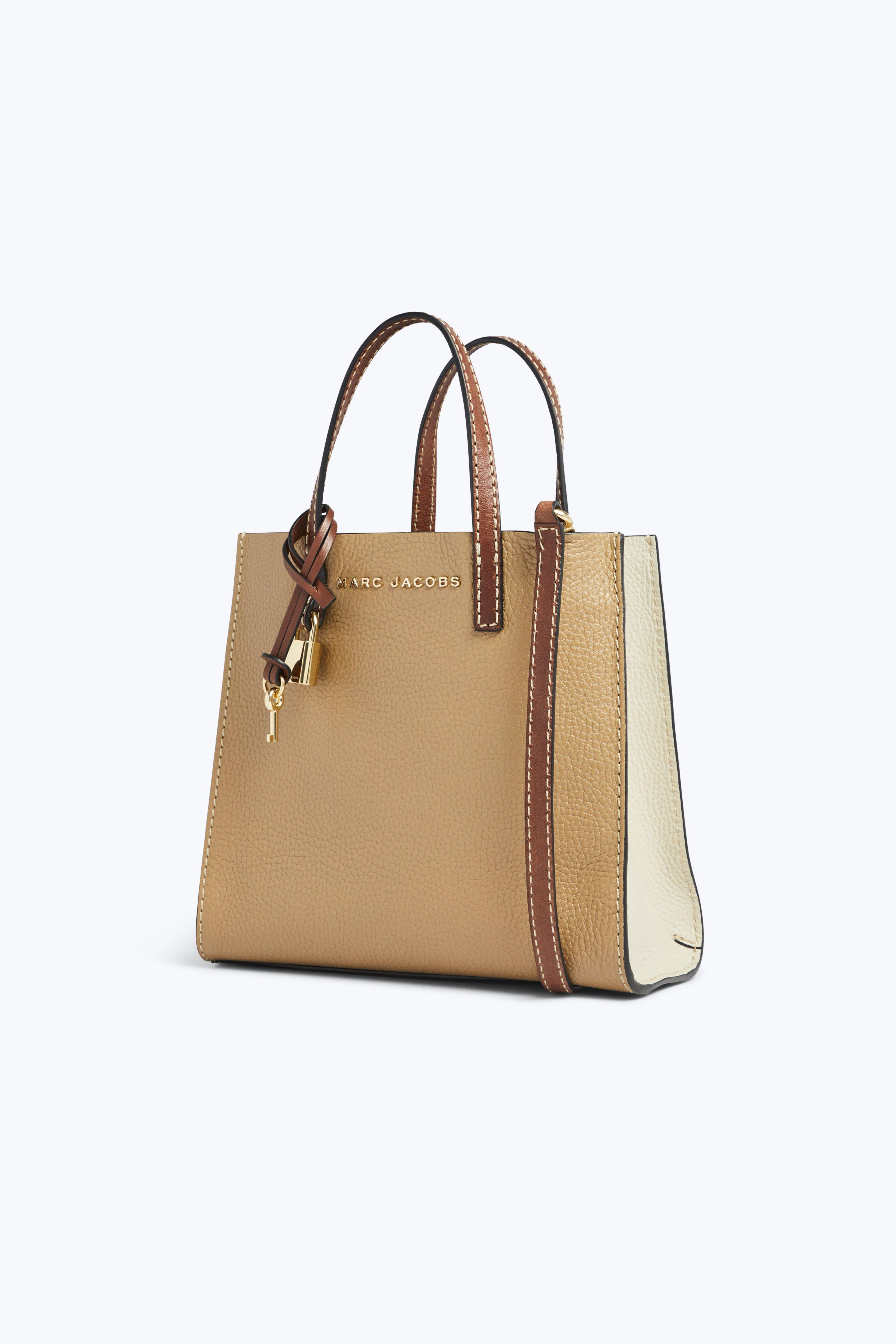 Lyst - Marc Jacobs The Colorblock Mini Grind Bag in Natural 19f14eecc1fe
