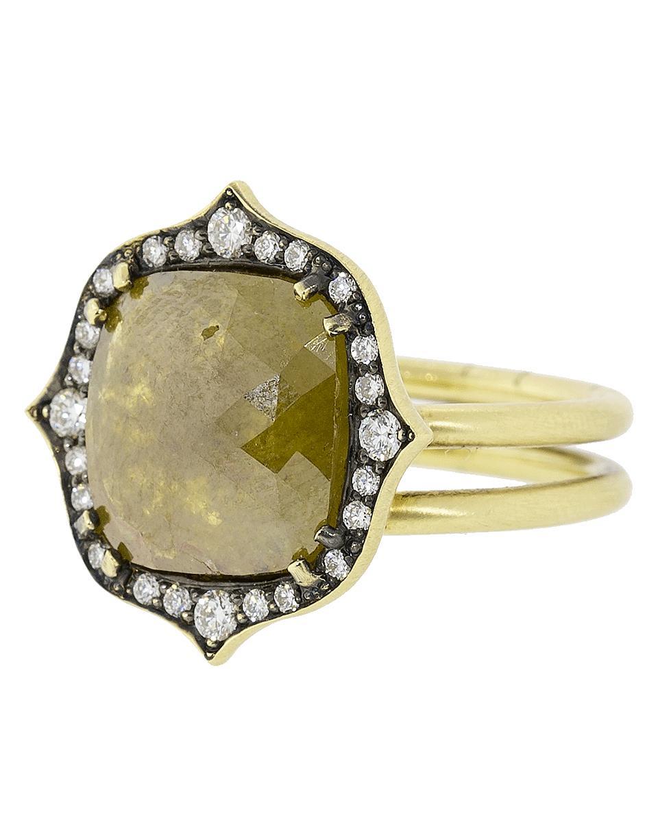 d2874e8a6e5 Lyst - Sylva   Cie Cushion Rough Diamond Ring in Metallic