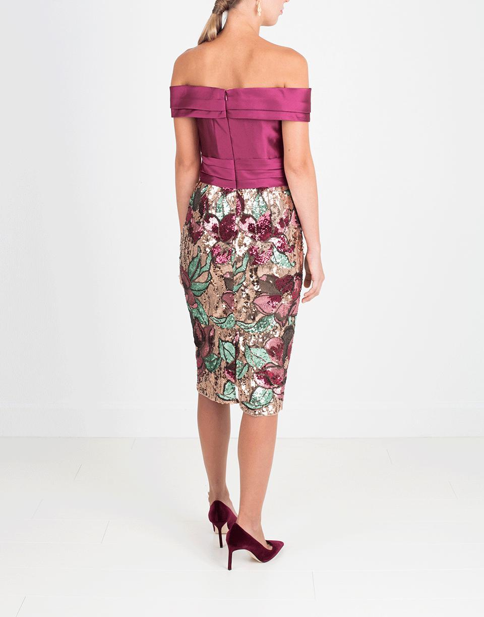 2931cc48da9d Marchesa notte - Multicolor Artwork Sequin Coctail Dress - Lyst. View  fullscreen