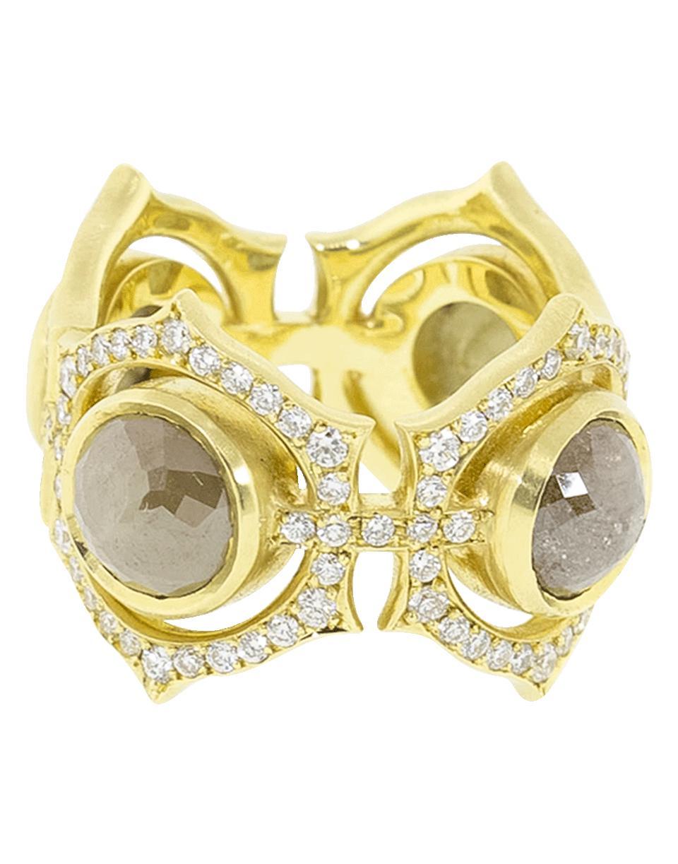 8d0aee0d49b Lyst - Sylva   Cie Rough Diamond Queen Ring in Metallic
