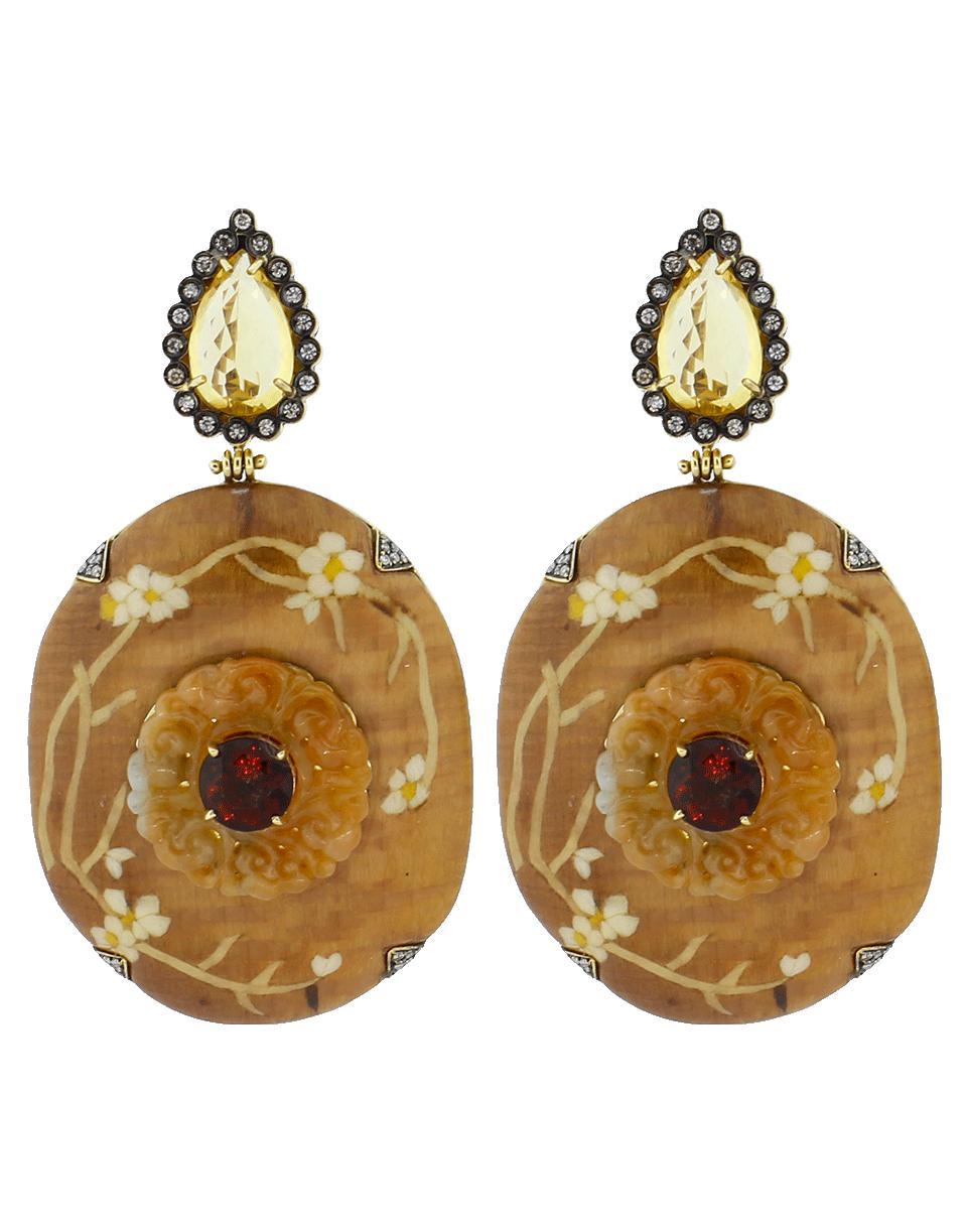 Marquetry Half Flower Earrings Silvia Furmanovich zgYZOp7s