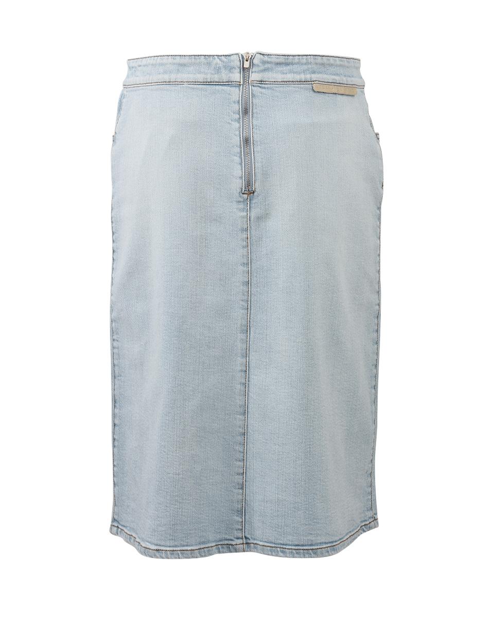 stella mccartney janelle denim skirt in blue lyst