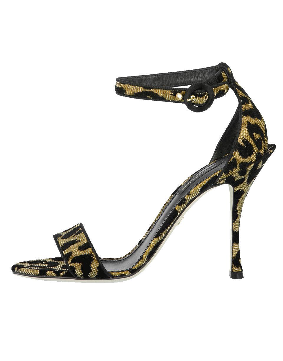 6d29601ed7e Lyst - Dolce   Gabbana Keira Leopard Print Sandal in Black