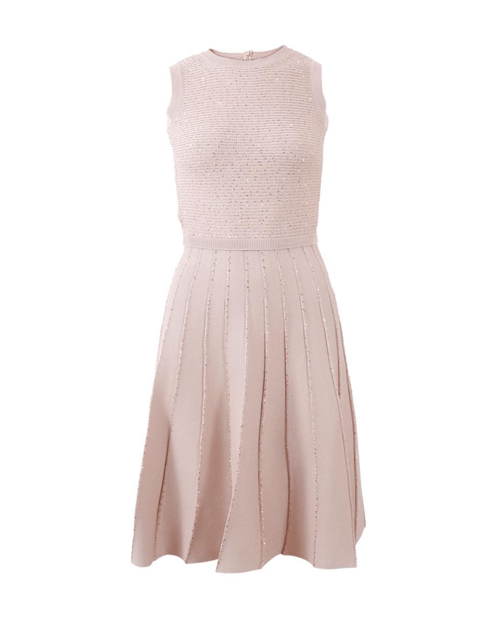 47b5c92c0c6 Lyst - Oscar De La Renta Pleated Dress in Pink