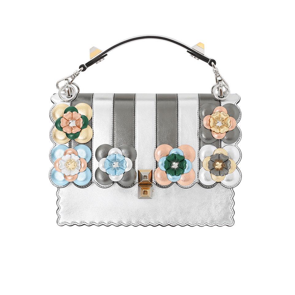 Lyst - Fendi Kan I Metallic Flower Bag in Metallic db38e4d9a2e52