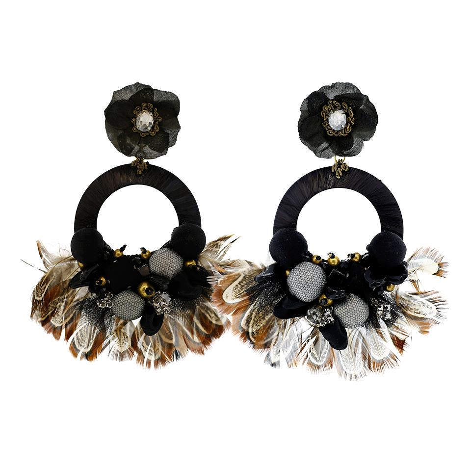 Ranjana Khan Evelyn-D Floral Hoop Earrings EbVWQ4c