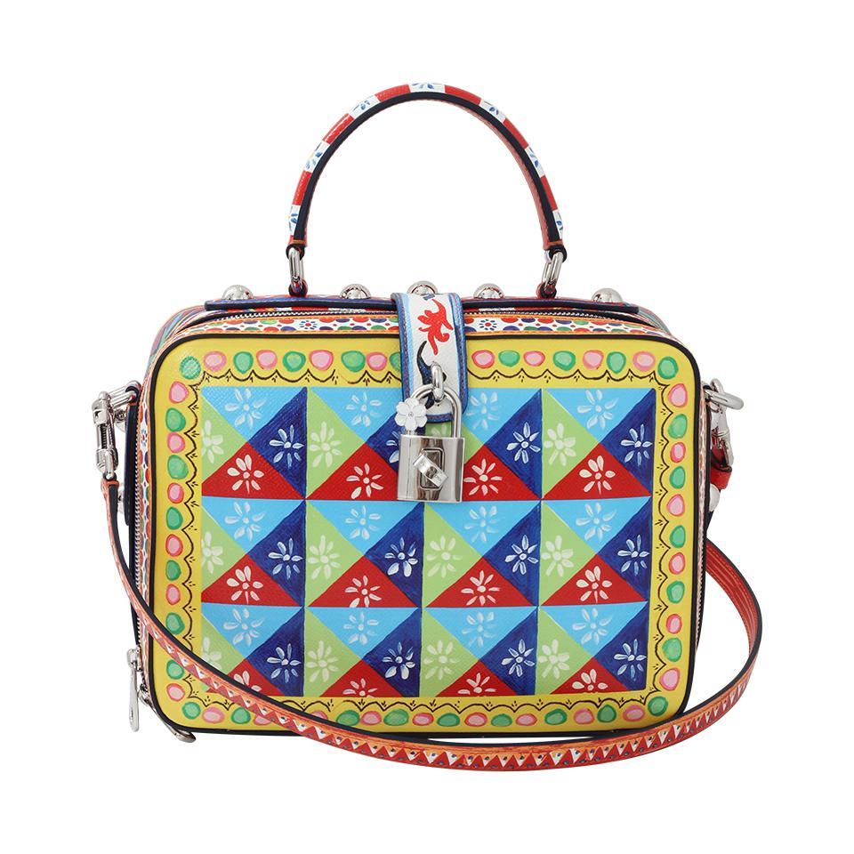 Lyst - Dolce   Gabbana Diamond Maiolica Bag in Blue c38031103cfb7