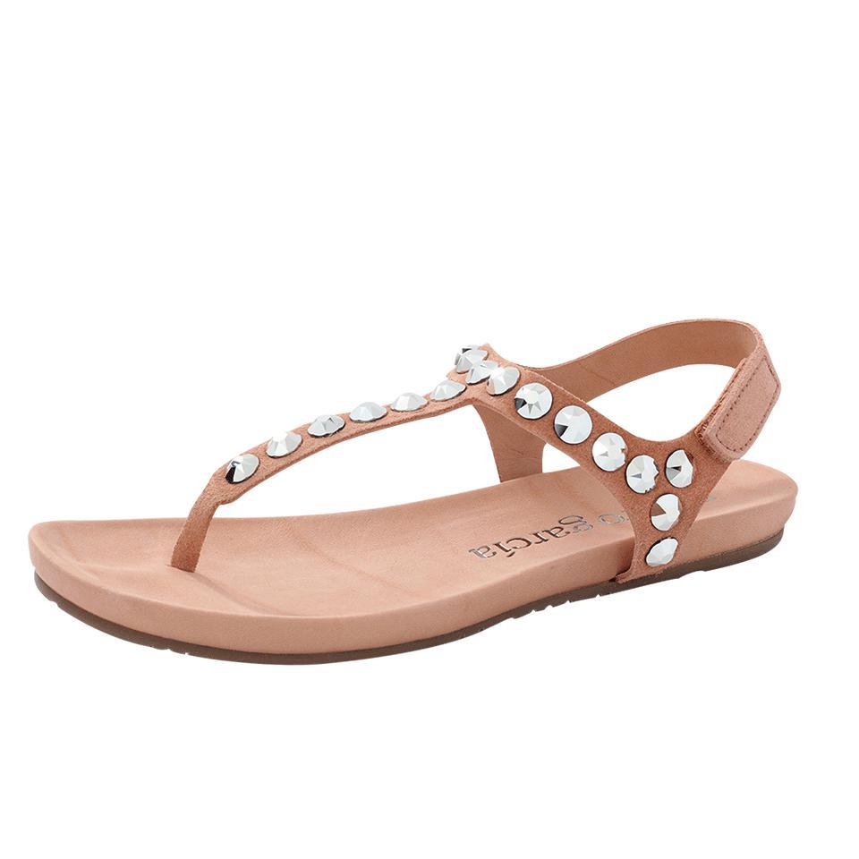 c82b17d2e272c4 Pedro Garcia Judith Stud T-strap Sandal in Natural - Lyst