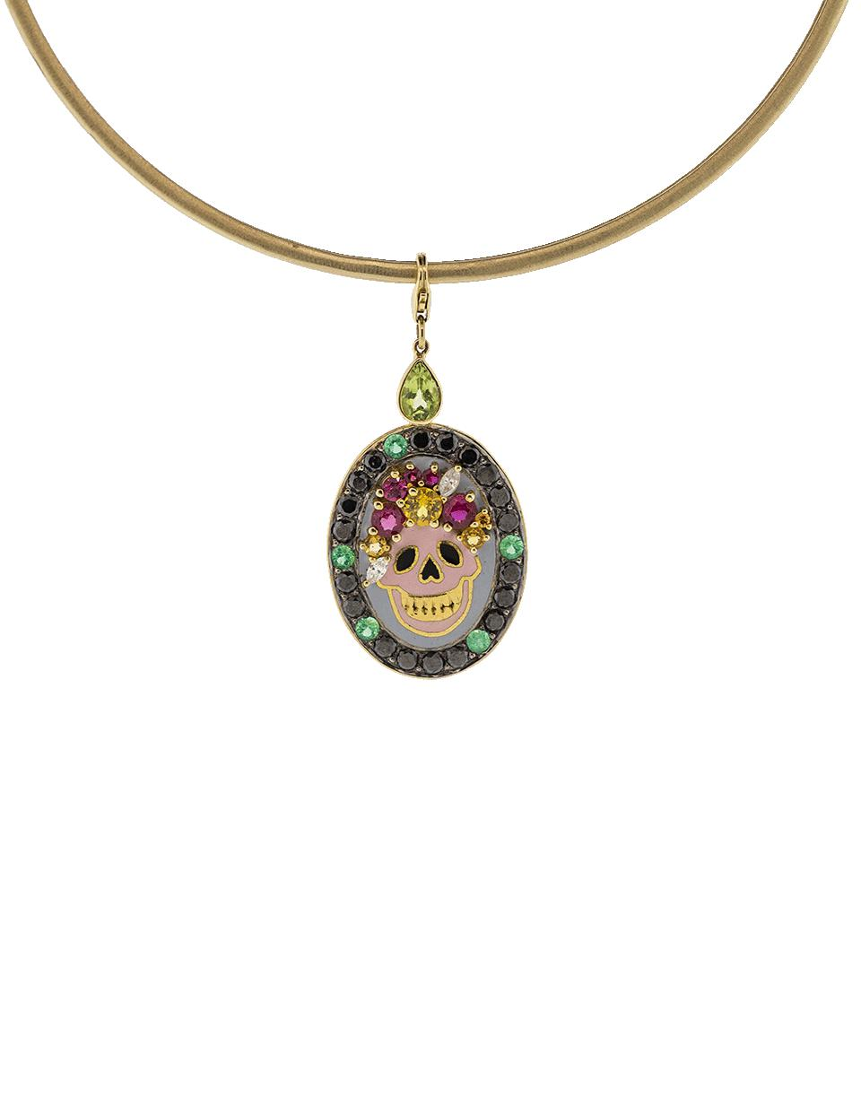 de muertos dia products necklace pendant los sugar skull cameo