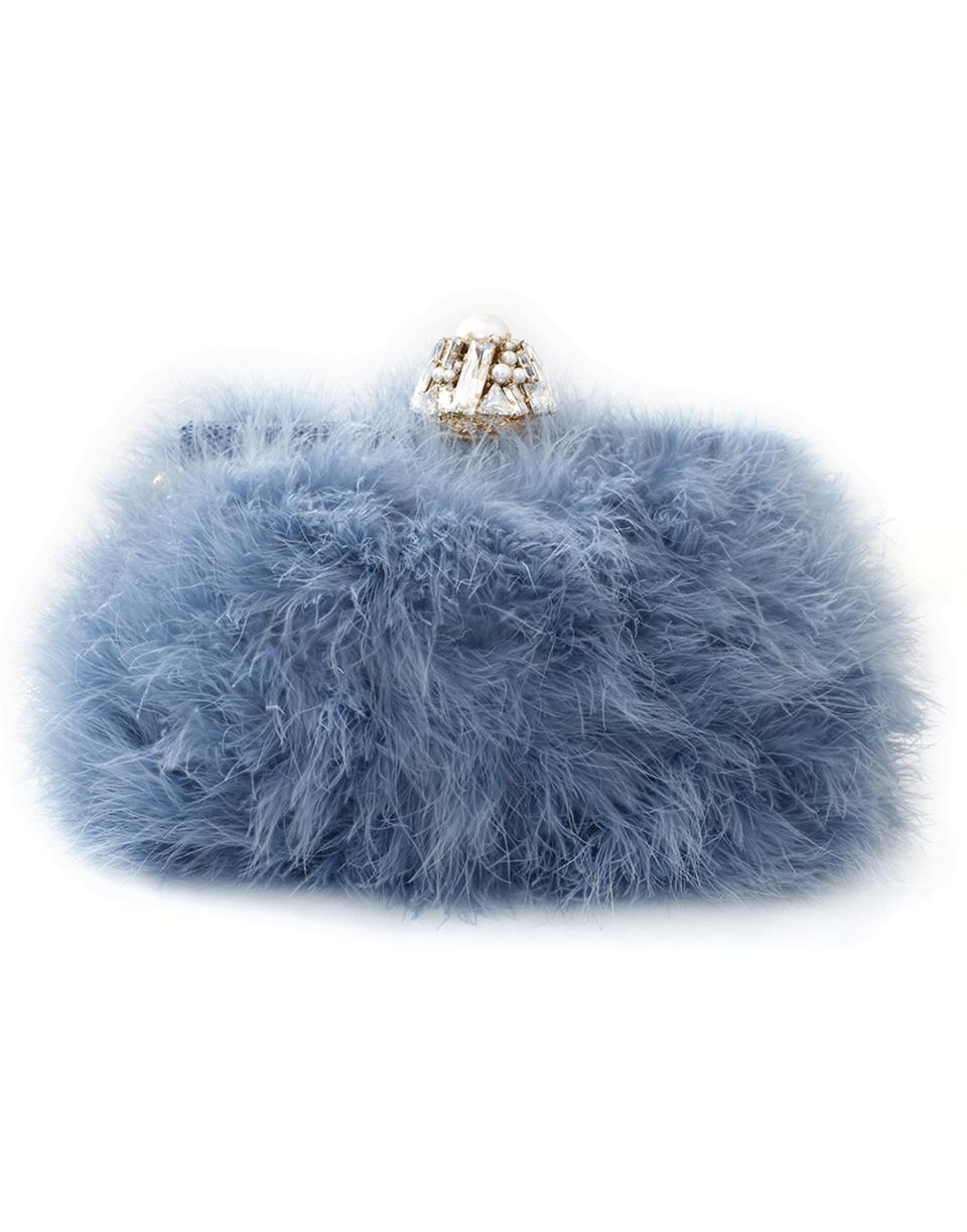 7f98f55926a3 Dolce   Gabbana Feather Evening Bag in Blue - Lyst