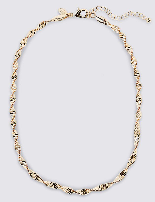 Lyst - Marks & Spencer Gold Plated Twist Sparkle Rope Necklace in