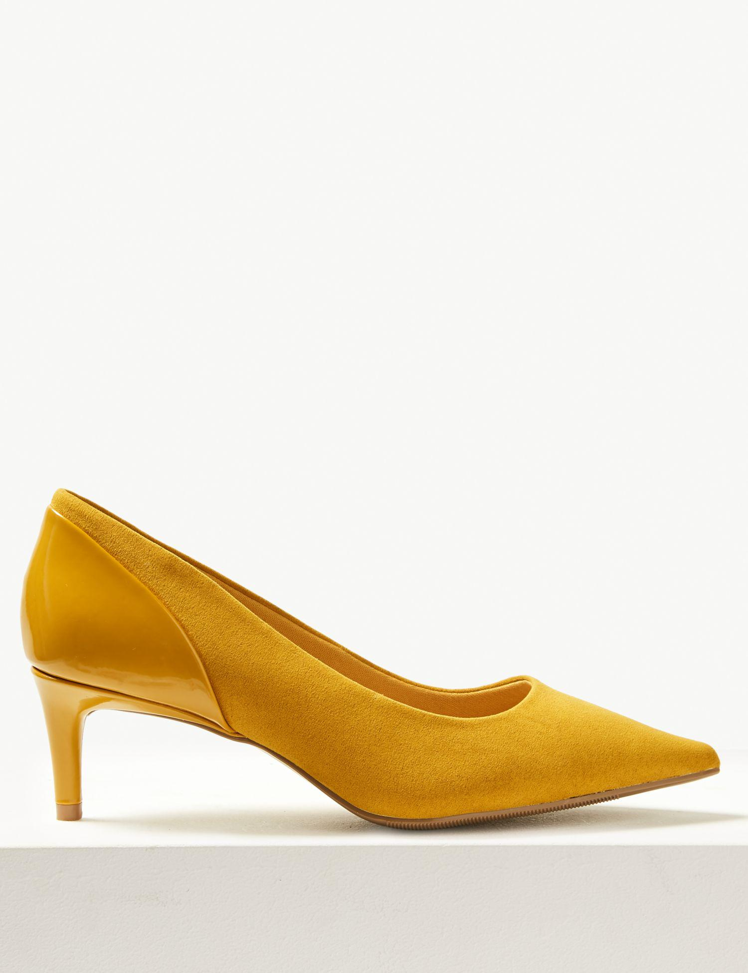 6ac48e905a Marks & Spencer Wide Fit Kitten Heel Court Shoes - Lyst