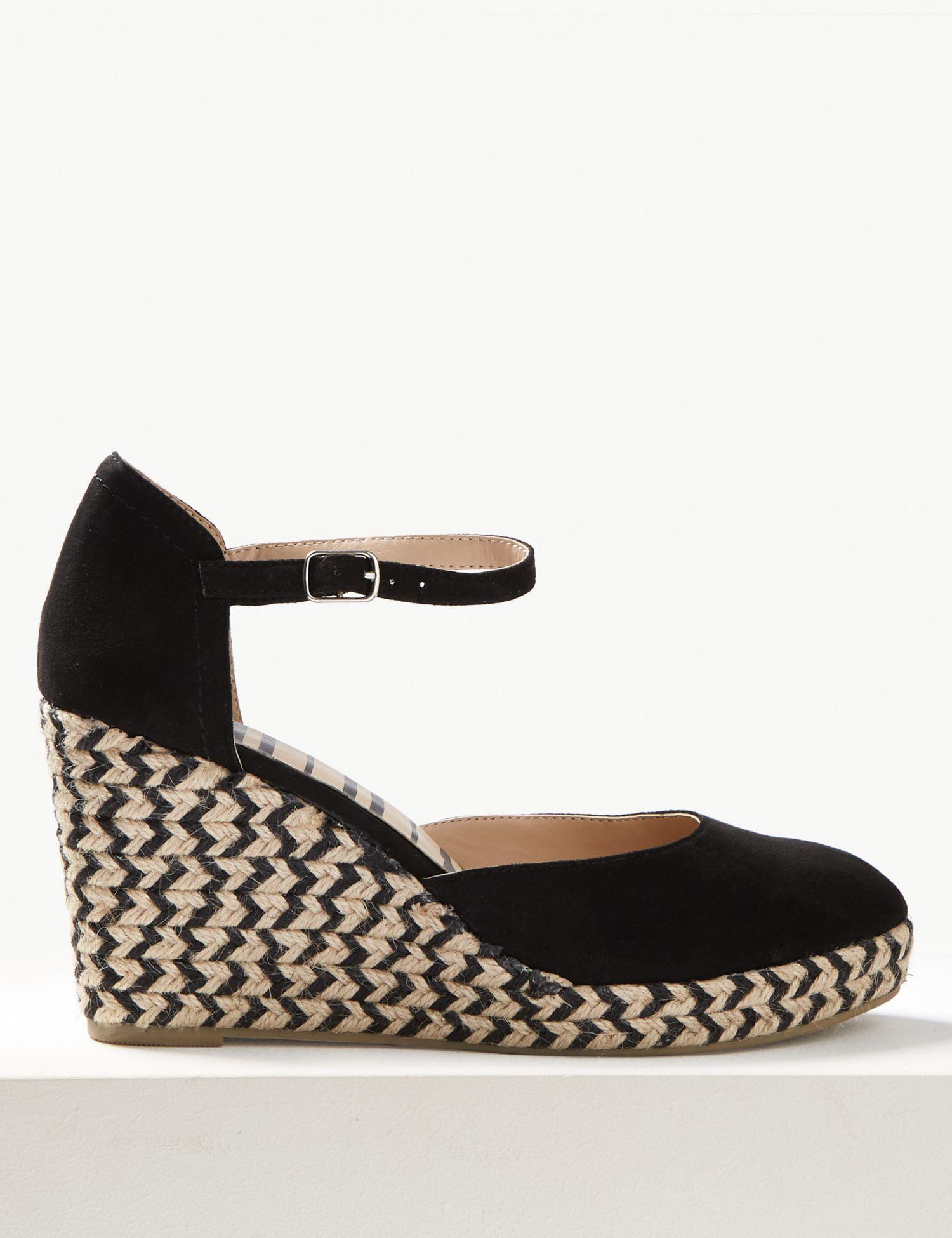 74b09f9245e Marks & Spencer Wedge Heel Almond Toe Espadrilles in Orange - Lyst