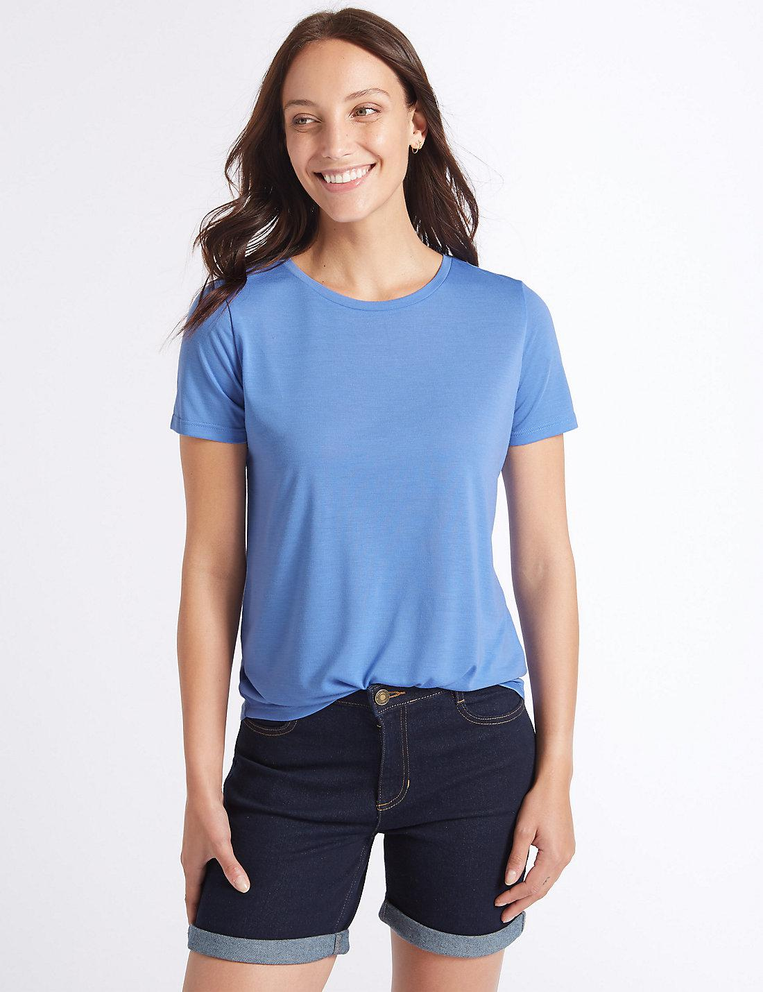 Relaxed Crew Neck T-Shirt blue Marks and Spencer 2018 New For Sale Cheap Sale Pay With Visa Sale 100% Authentic Countdown Package Sale Online pT20BAShjd