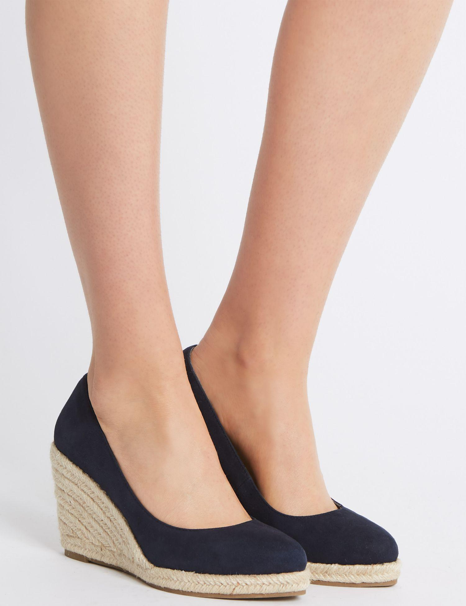 1897e9b1ca0306 ... Almond Toe Wedge Heel Espadrilles in Blue - Lyst great fit 33f9c 7cdf6   Lyst - Isaac Mizrahi New York Bling Jewel-Detail Platform Wedge Leather  Sandals ...