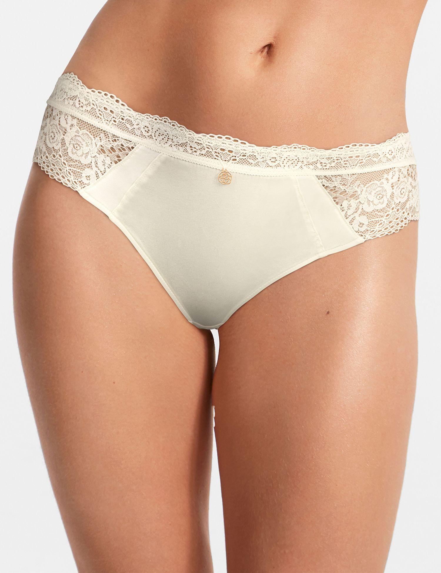 c0a6d9c9f50b Marks & Spencer Silk & Lace Brazilian Knickers in White - Lyst