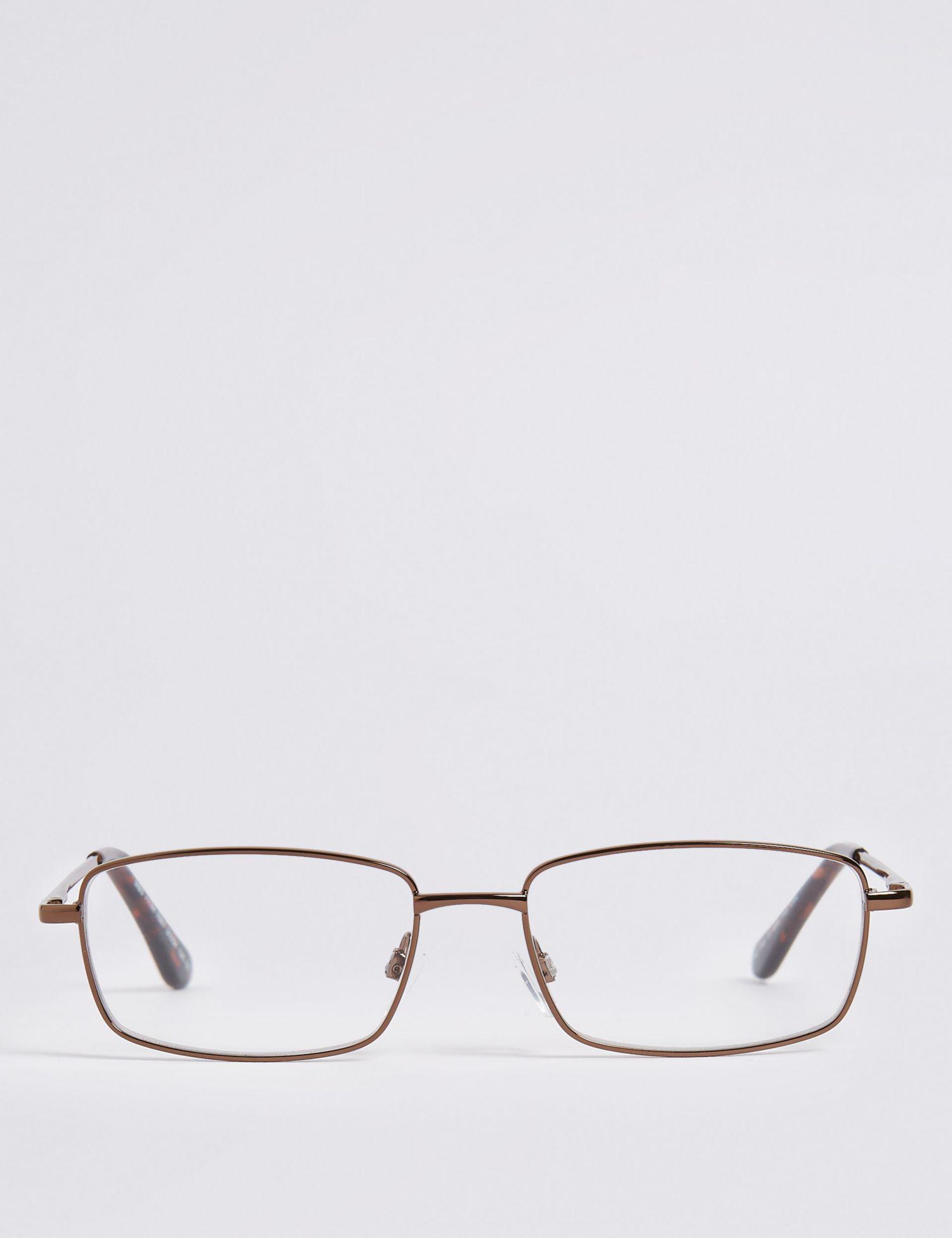 67d8b301159 Marks   Spencer Metal Rectangle Reading Glasses - Lyst