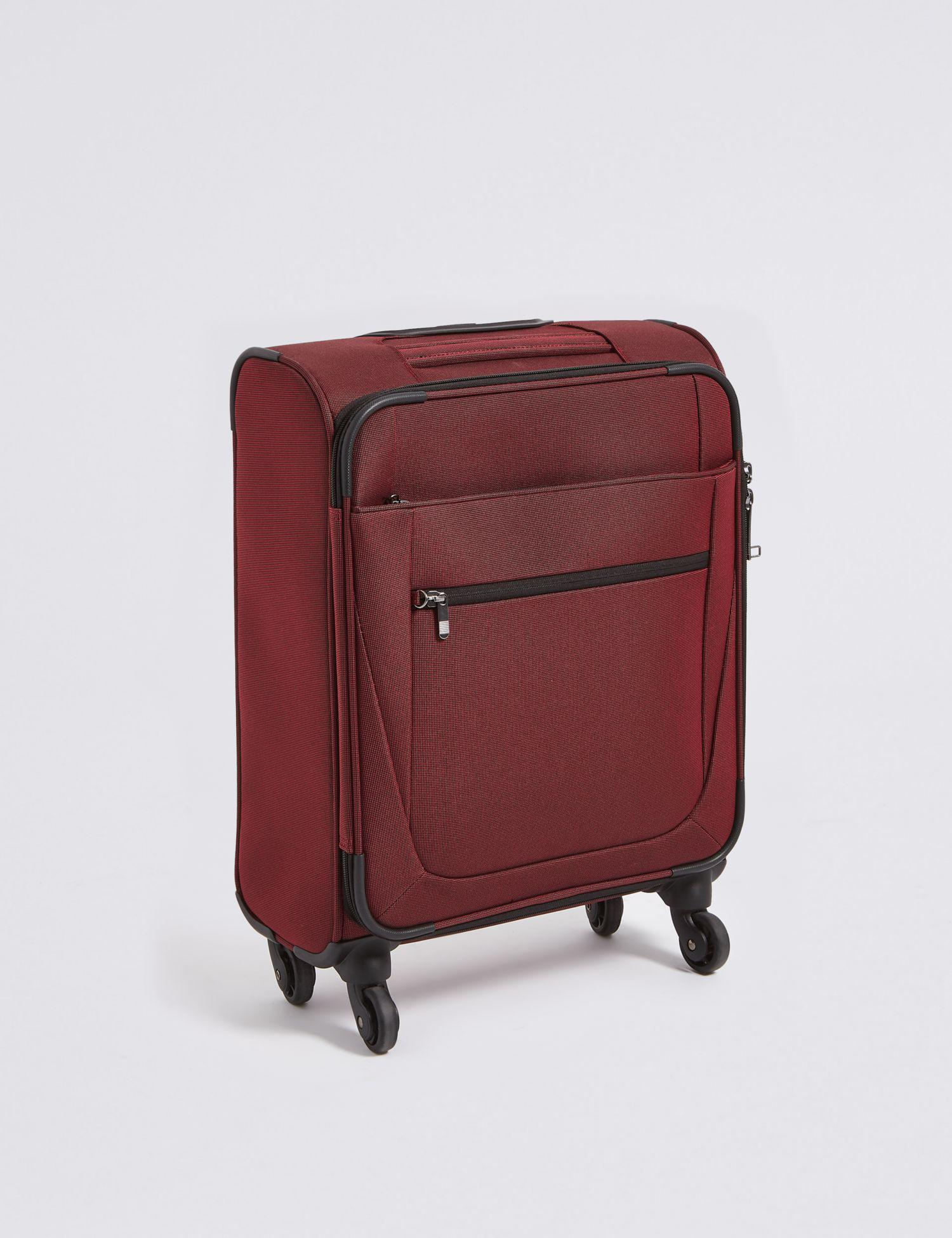 8eb980eb6ee3 Marks   Spencer Cabin 4 Wheel Soft Suitcase With Security Zip in Red ...