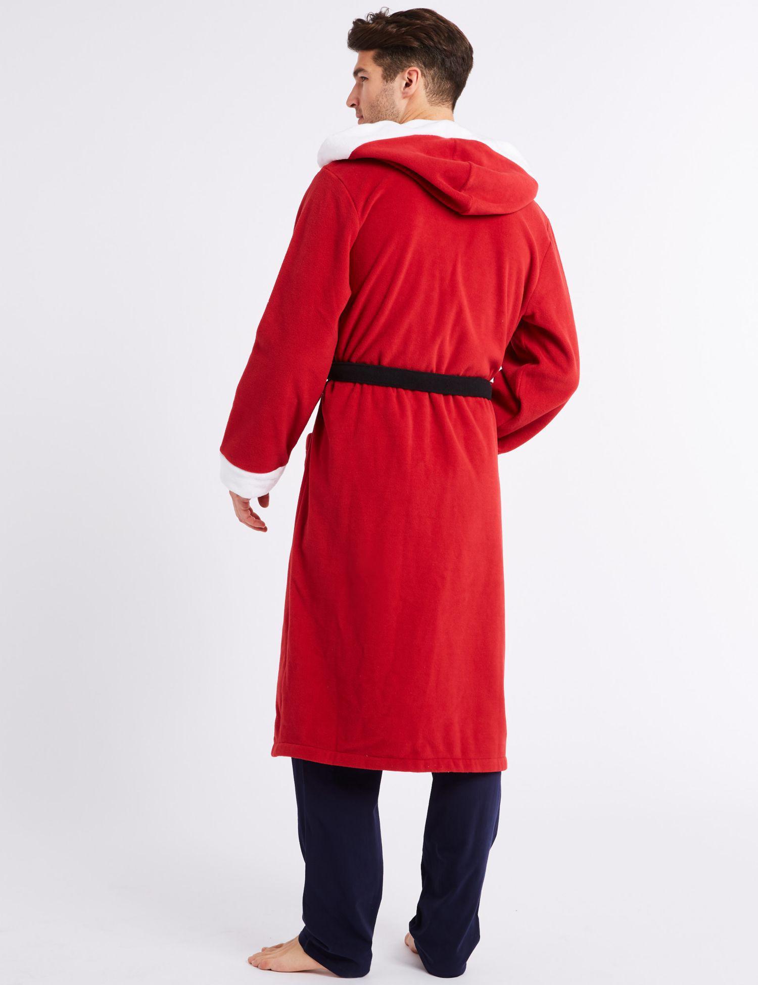 Marks   Spencer Santa Fleece Dressing Gown in Red for Men - Lyst 1ad1f075c