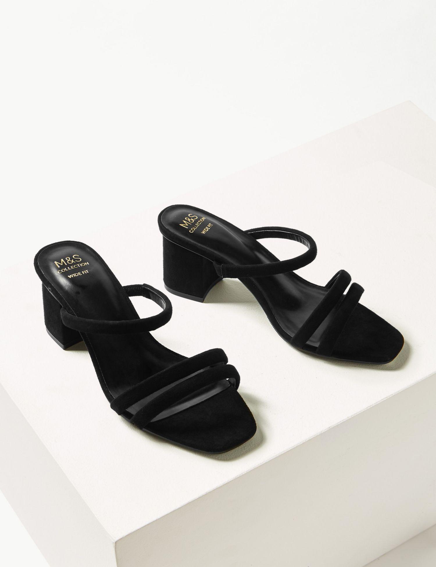 3f10f78a91b0 Marks & Spencer Wide Fit Multi Strap Mule Sandals in Black - Lyst