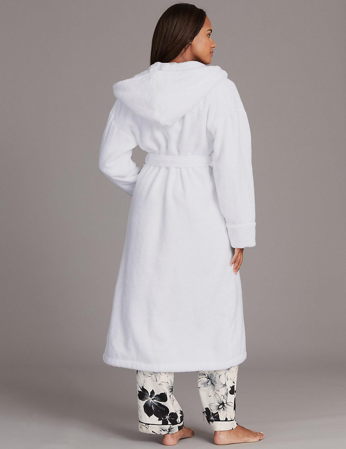 Lyst - Marks & Spencer Pure Cotton Towelling Dressing Gown in White