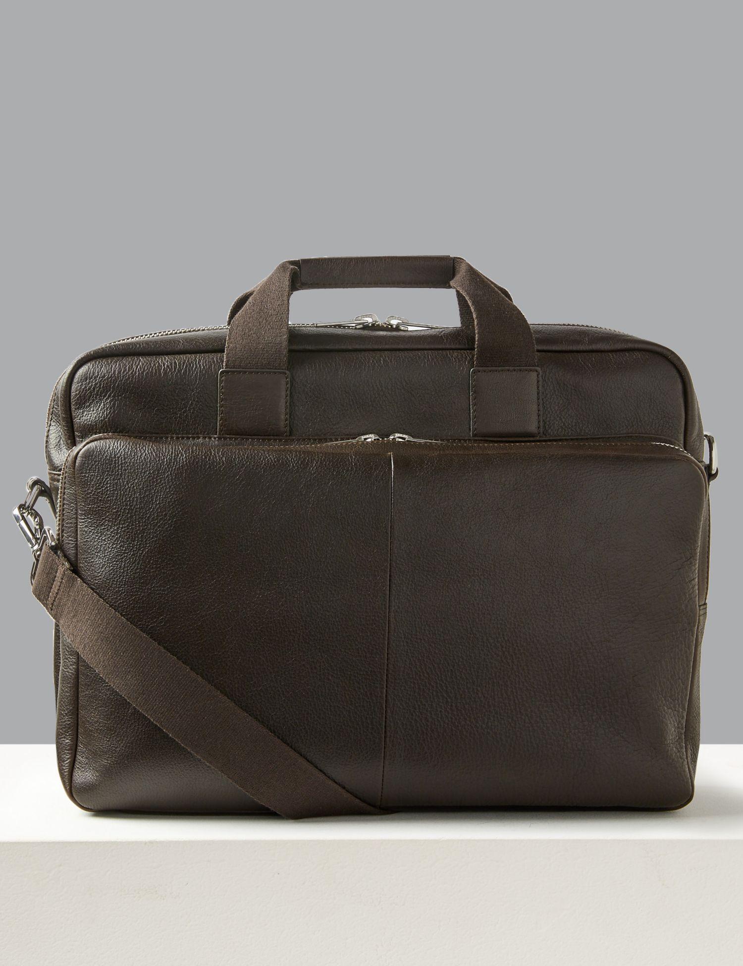 af6d559c6b3 Marks   Spencer Casual Leather Briefcase in Brown for Men - Lyst