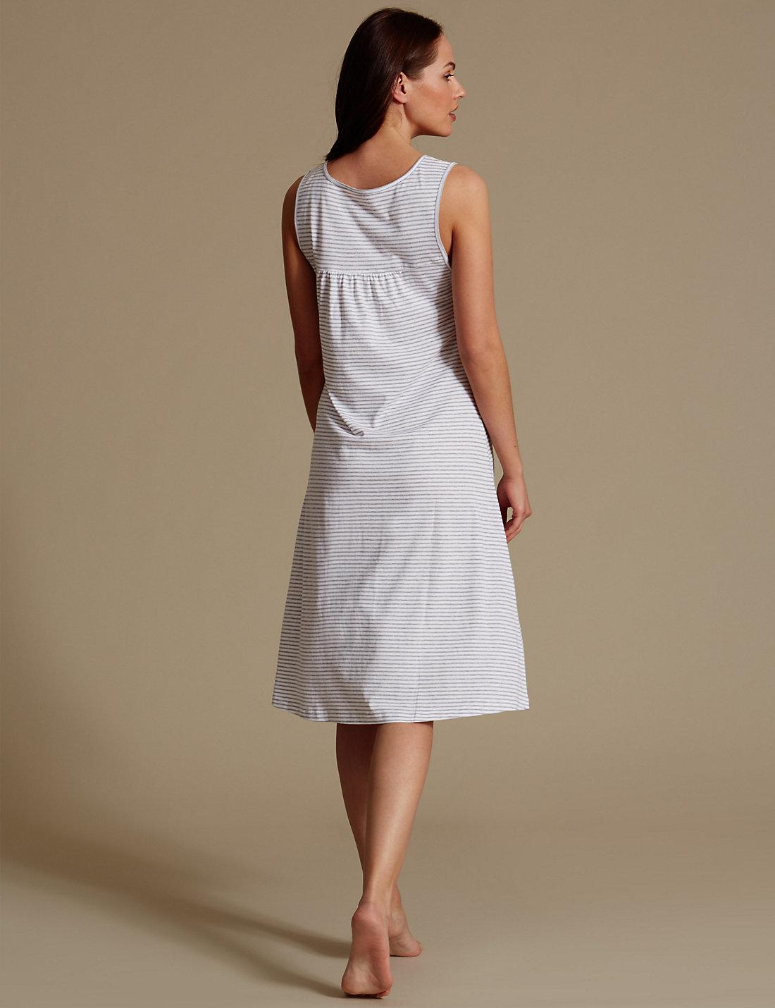 Lyst - Marks   Spencer Modal Blend Crochet Trim Nightdress in Gray fc83547db