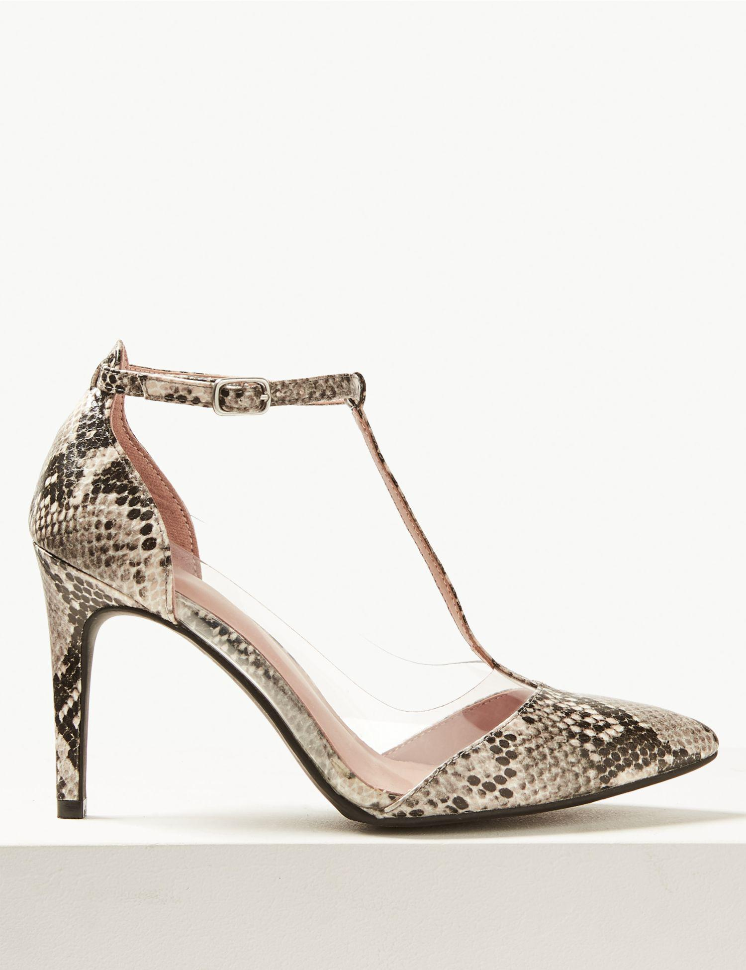 c45b10c620d4 Marks & Spencer - Multicolor Stiletto Heel Perspex T-bar Court Shoes - Lyst
