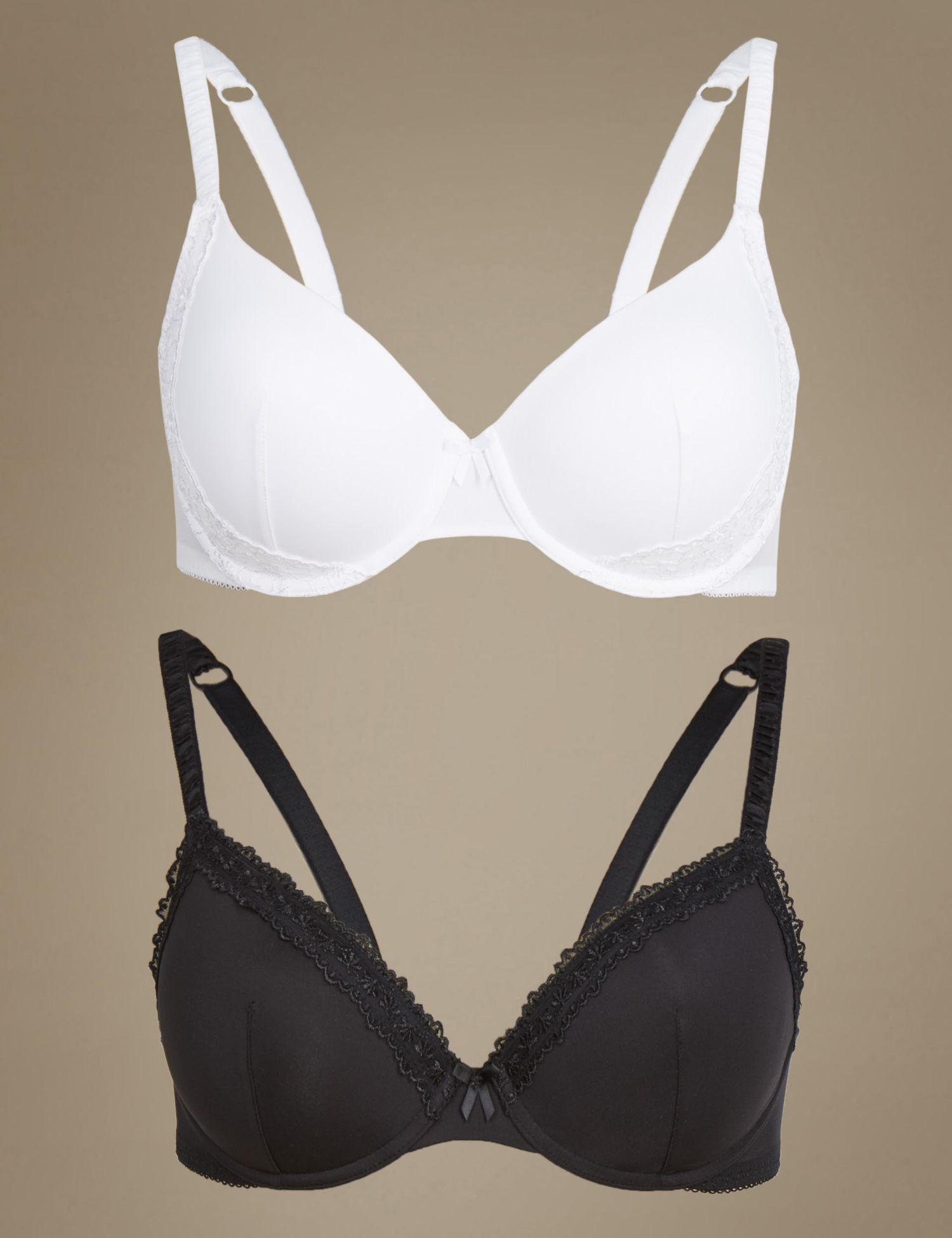 594e2ee670f07 Marks & Spencer 2 Pack Embroidered Smoothing Full Cup Bras A-e - Lyst