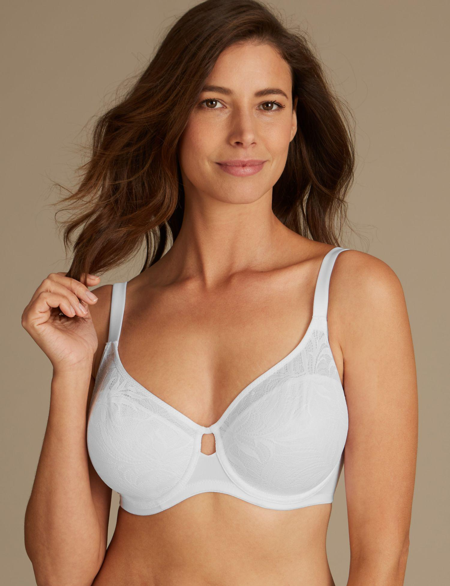 7ff4935dd Marks   Spencer Youthful Lifttm Non-padded Full Cup Bra Dd-h in White - Lyst