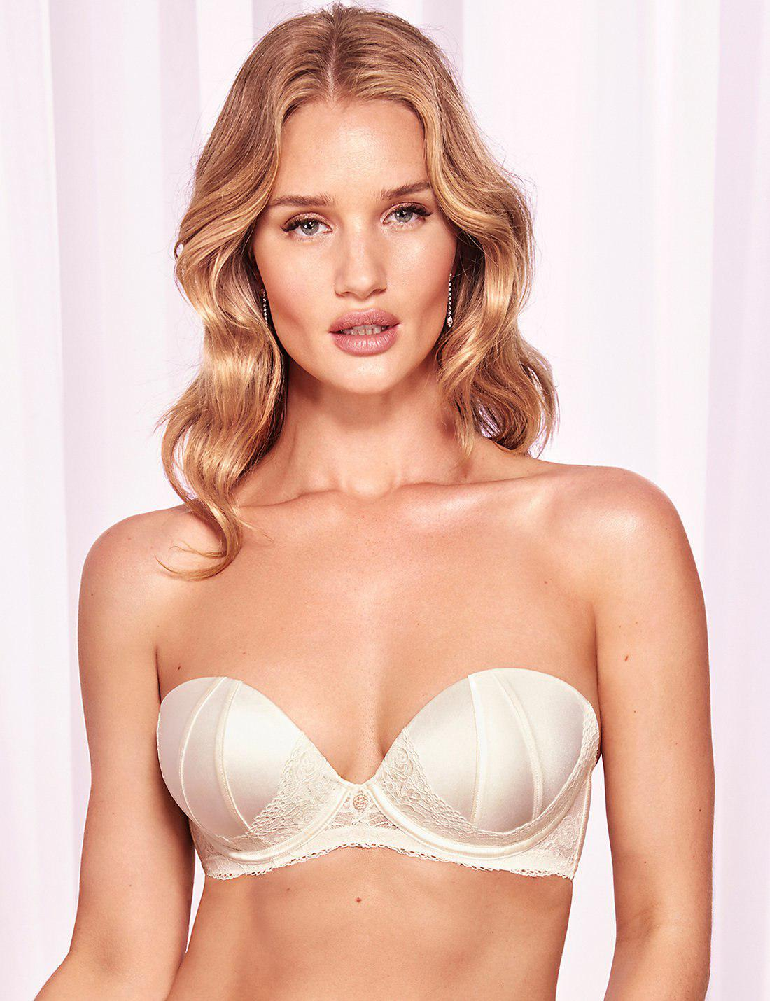 cd1abbcfc1203 Lyst - Marks   Spencer Lace Padded Strapless Bra A-e With Silk in White