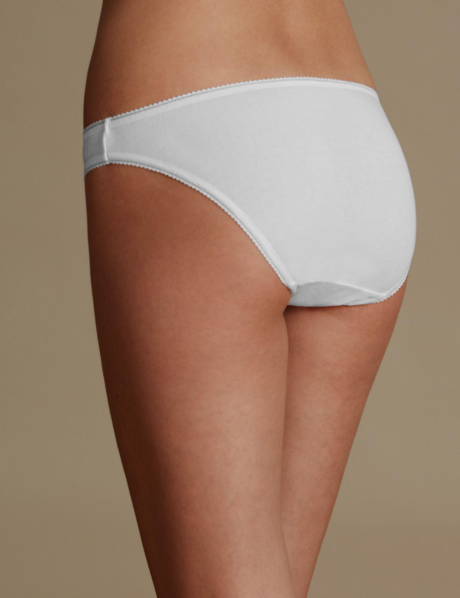 Marks   Spencer 5 Pack Cotton Rich Bikini Knickers With New   Improved  Fabric in White - Lyst c90d1fbc2