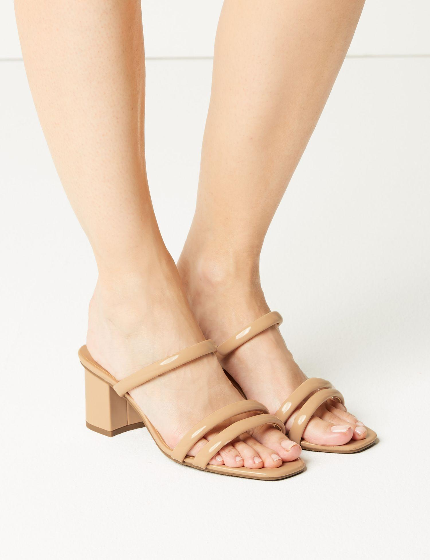 03f2c7f494bf Marks & Spencer Multi Strap Mule Sandals in Natural - Lyst