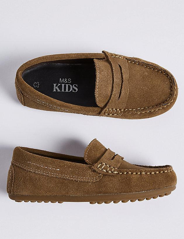4029df5eeb9e Lyst - Marks   Spencer Kids  Suede Driving Shoes (13 Small - 7 Large ...