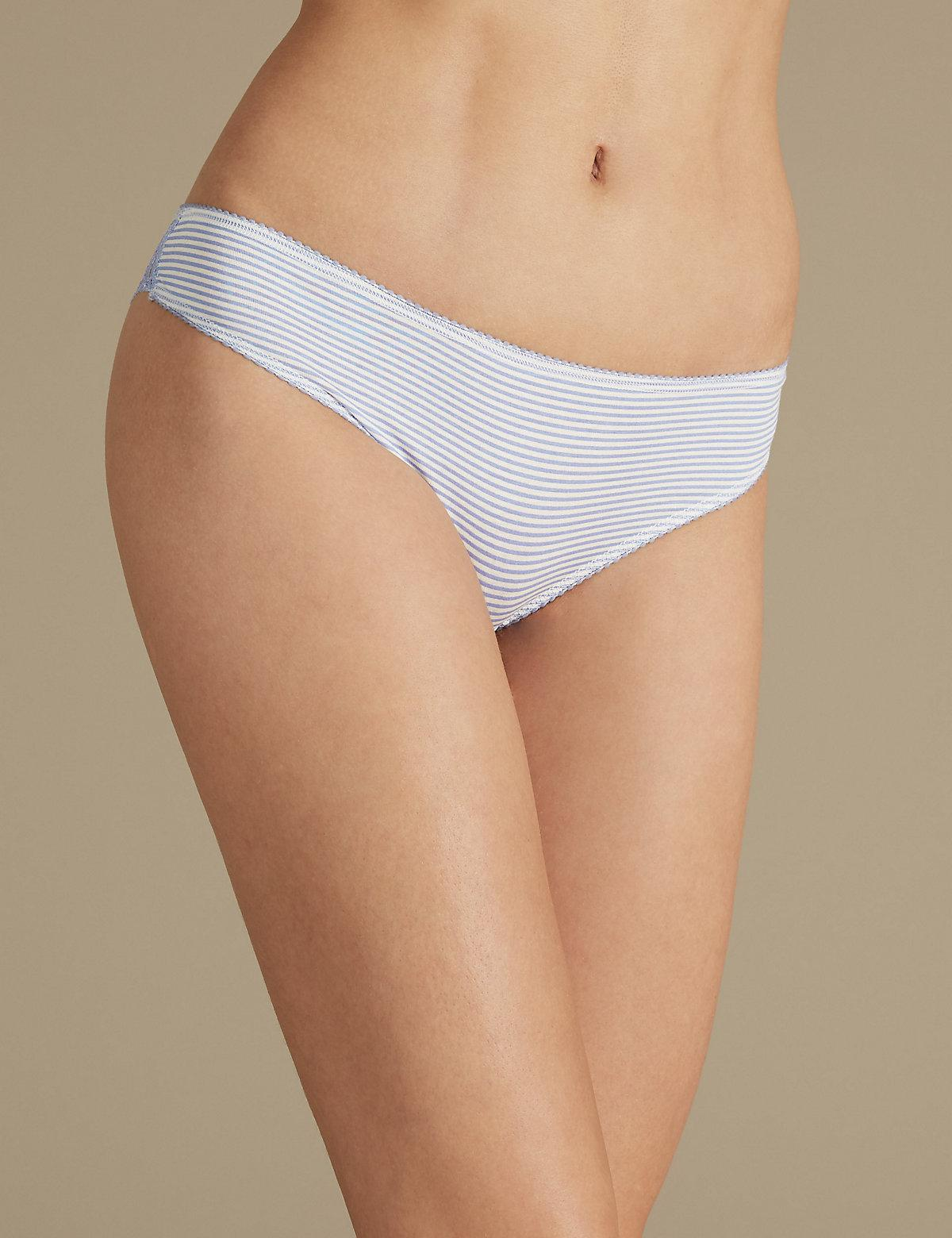 Marks & Spencer 5 Pack Cotton Rich Geometric Lace Brazillian Knickers - - 6 Cheap Discount NDzSJKcW